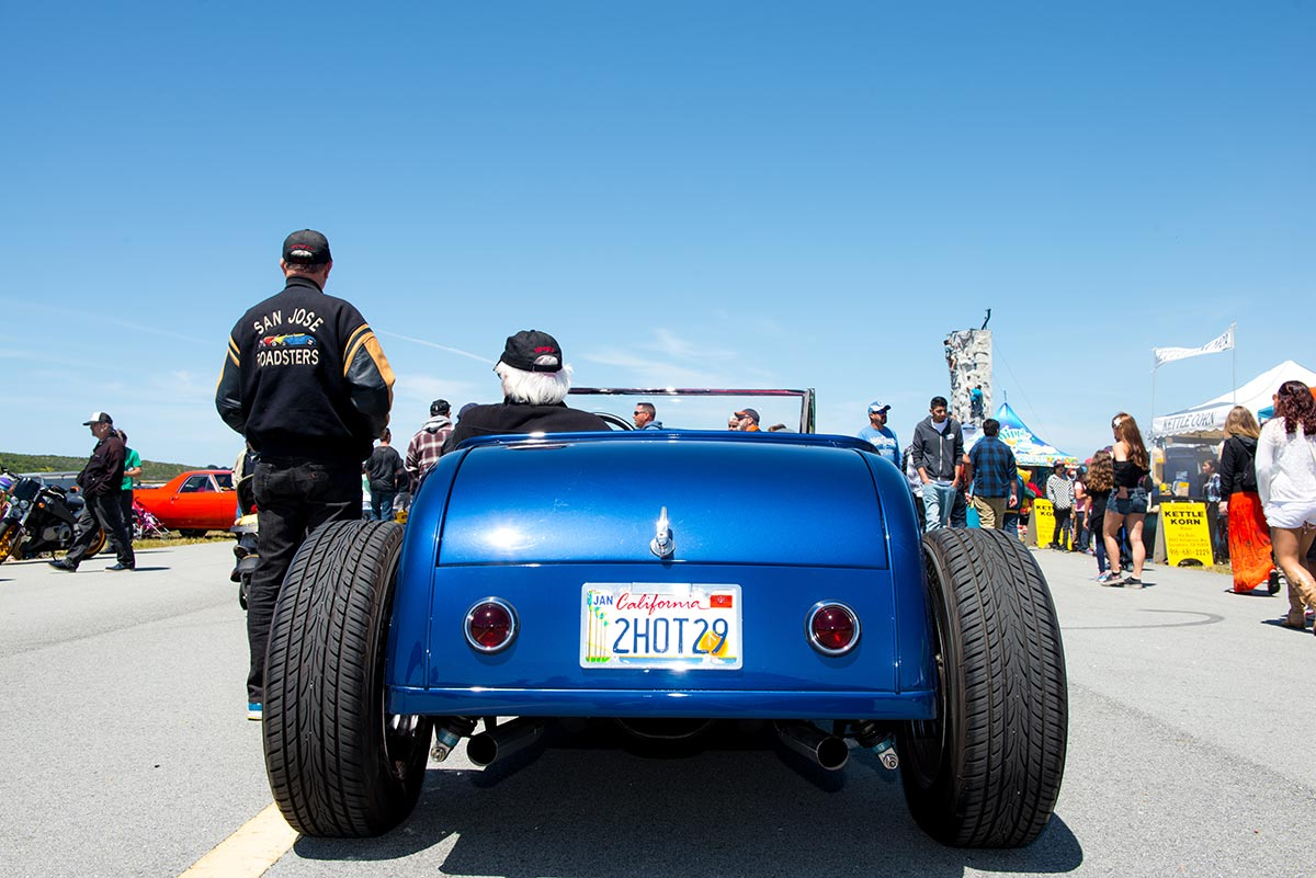 Roadster on display at Pacific Coast Dream Machines car and air show