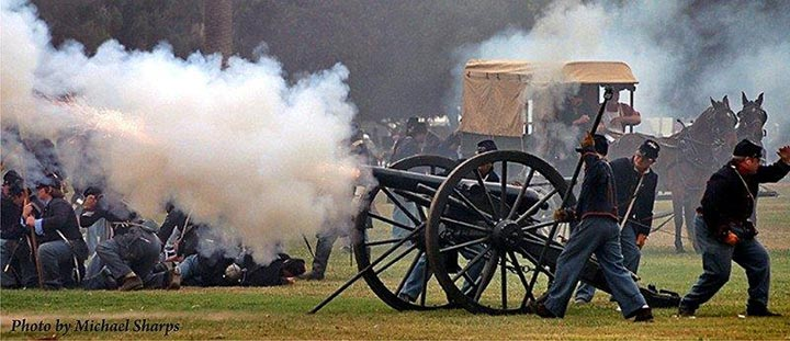 California Historic Artillery Society battle re-enactment
