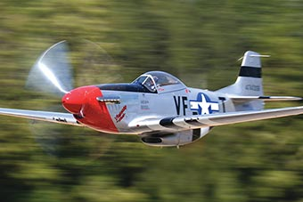 Terry Tarditi flying his P-51 mustang