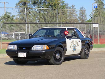 1988 Ford Mustang, California Highway Patrol