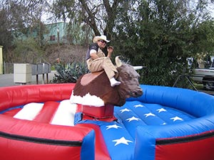 Rocky The Mechanical Bull ride