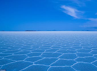Uyuni salt flats in Southern Bolivia where Team Ack Attack will attempt to break the 400 mph mark