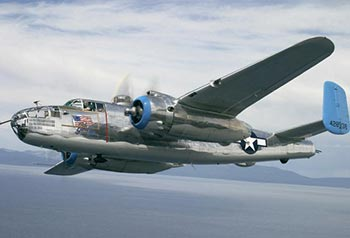 "B-25 Bomber ""Old Glory"" in flight"