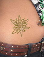 It's Fun Face Painting - Henna body art ragged sun design