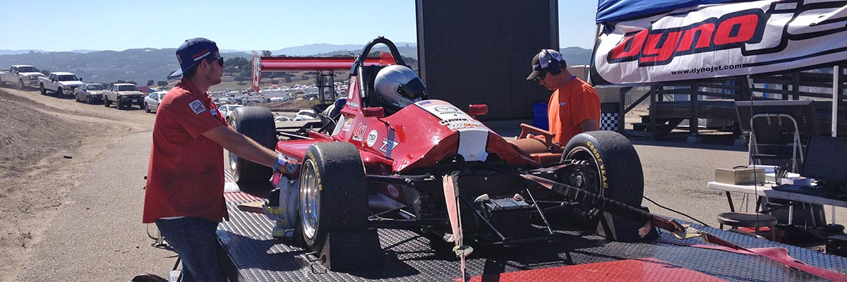 Dynojet Dynamometer testing performance of a race car