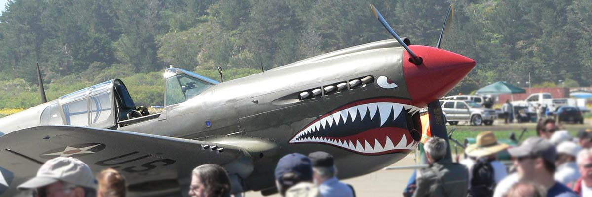 vintage warbirds at Pacific Coast Dream Machines show