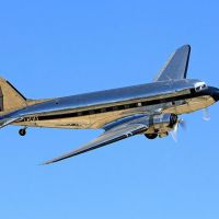 Douglas DC-3 in flight