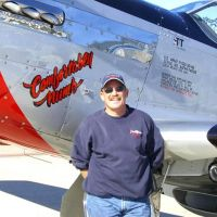 Terry Tarditi and his P-51 Mustang
