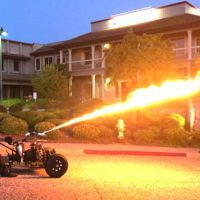 Wild Bill's 1959 Onan Cycle Car flamethrower