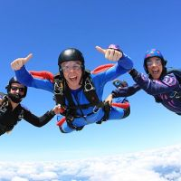 Expert Skydiving Trio